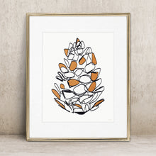 Load image into Gallery viewer, Autumn Pine Cone- Instant Download Wall Art