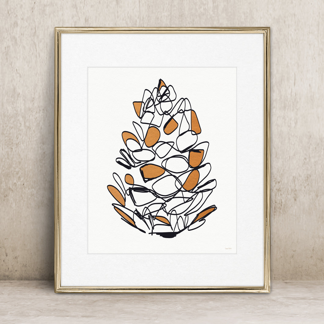 Autumn Pine Cone- Instant Download Wall Art