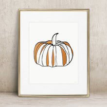 Load image into Gallery viewer, Autumn Pumpkin- Instant Download Wall Art