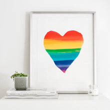 Load image into Gallery viewer, Rainbow Heart- Instant Download Wall Art Print