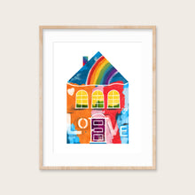 Load image into Gallery viewer, Rainbows and Love House- Instant Download Wall Art