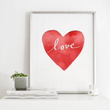 Load image into Gallery viewer, Red Heart Love- Instant Download Wall Art Print