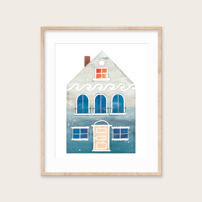 Summer Beach House- Instant Download Wall Art Print