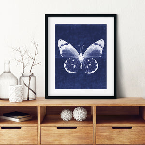 White Butterfly 1- Instant download wall art print