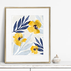 Yellow Flowers 1- Digital Download Wall Art