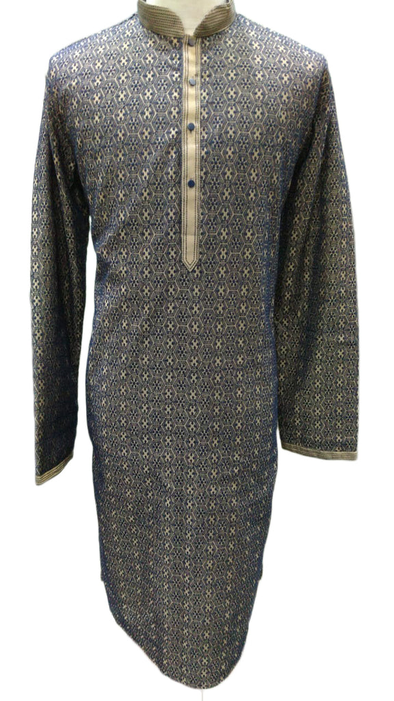 Men's stylish Arabic robe in titanium shade