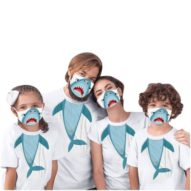 Family Clothes Fashion Family Matching Outfits For You 2020 New Mask And Clothes Set 2pcs Girls Boys Women Men Short Sleeve Tees
