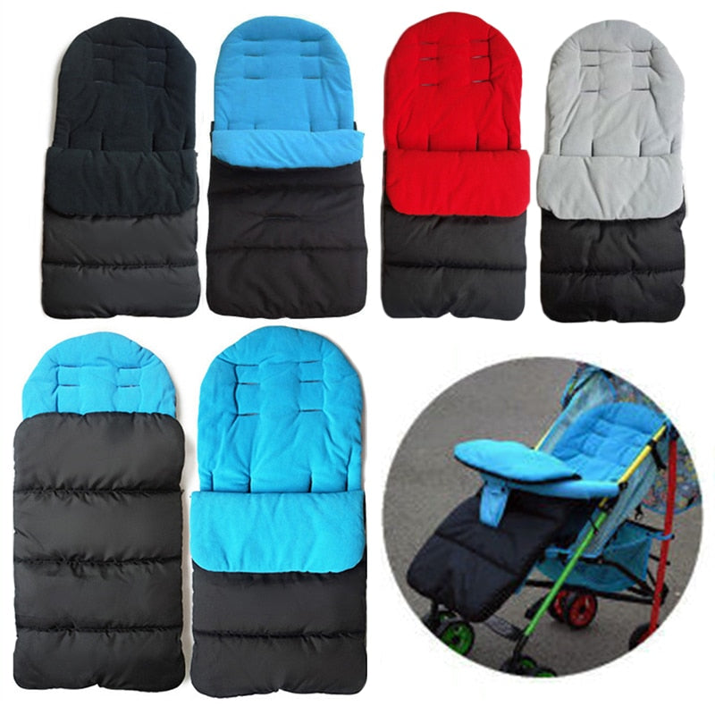 Baby Carriage Sleeping Bag Winter Stroller Pad Seat Windproof Warm Thickening Cotton Pad Feet Cover Multi-function Accessories