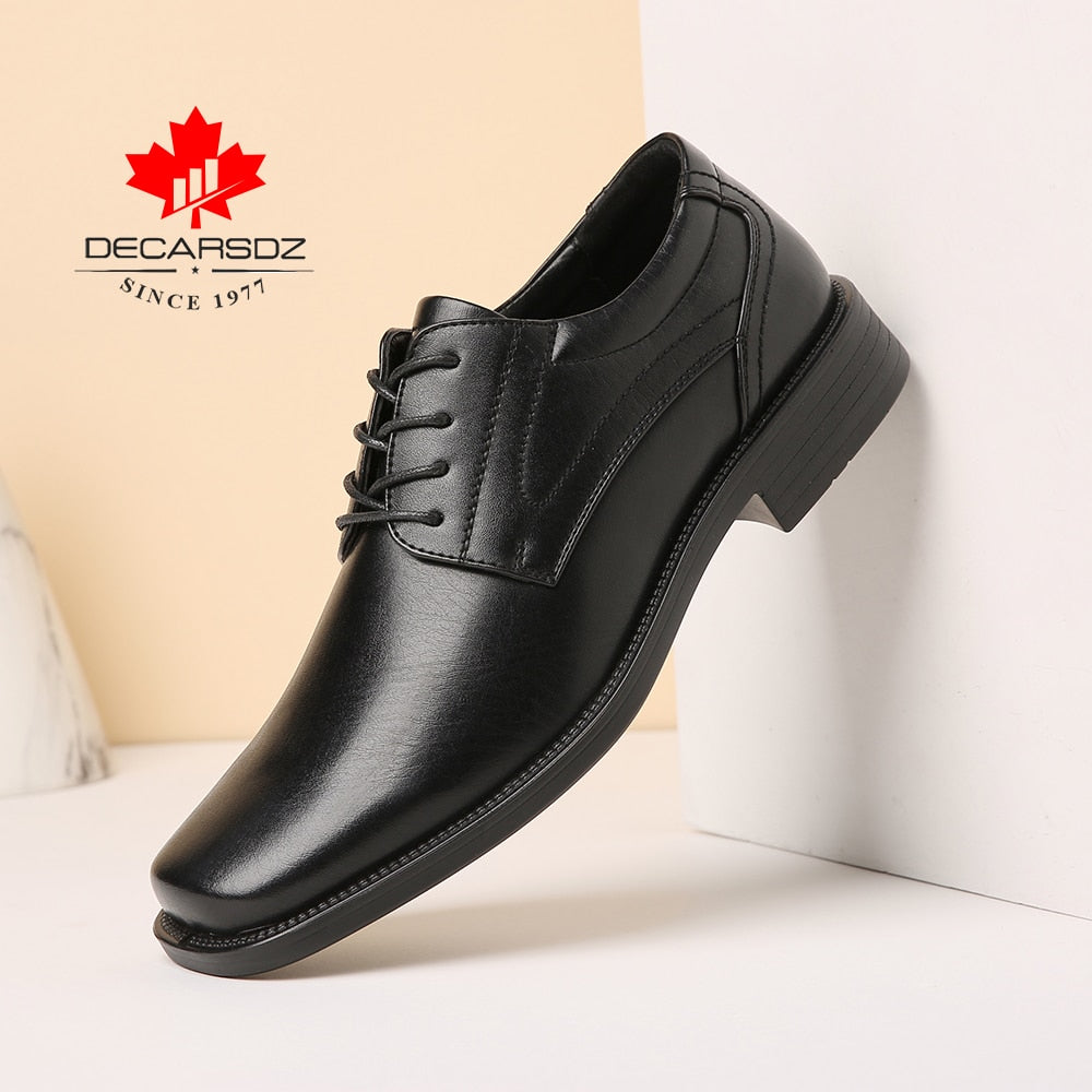 DECARSDZ 2020 Autumn Fashion Shoes Men Office Design Classic Men Shoes High quality Luxury leather Brand Comfy Men Casual Shoes
