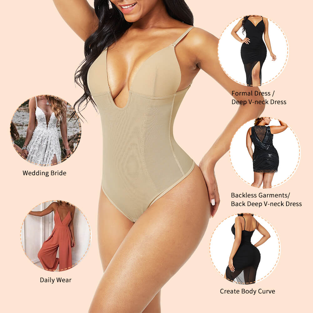 AirSlim™ Backless Underwire Thong Shapewear