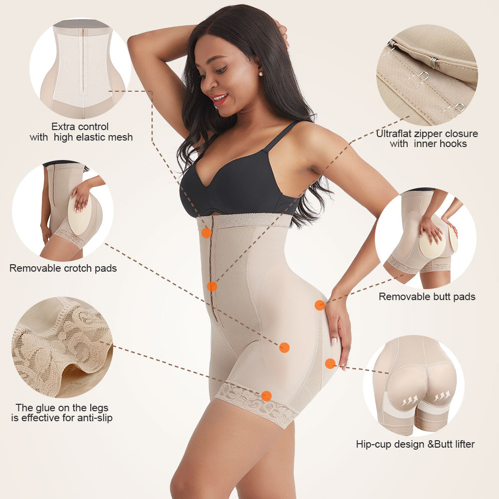 AirSlim Shapewear Shorts With Detachable Pads