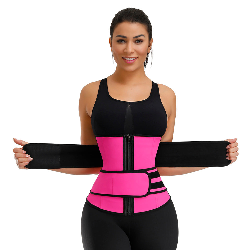 Shapellx Double Belts Tummy Control Adjustable Waist Trainer
