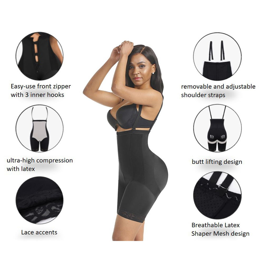 Shapellx NEW IN Zipper & Hook Shaper Shorts Waist Trainer Shapewear