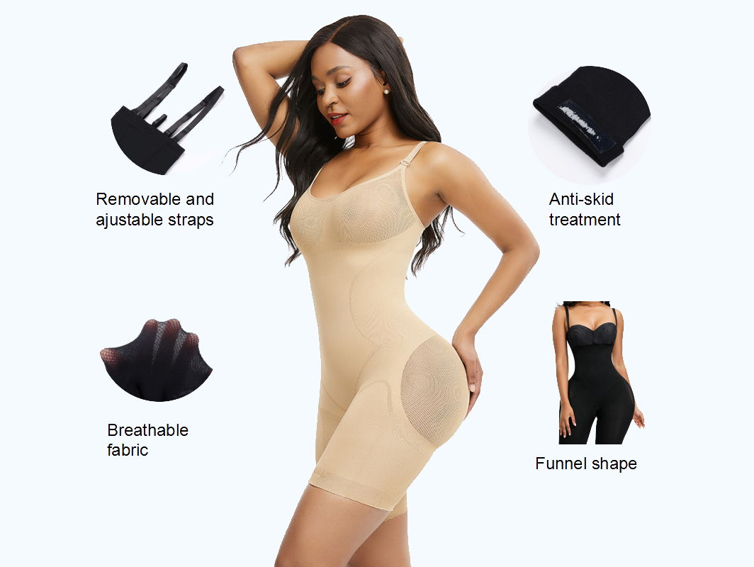 Shapellx Ultra Light Seamless Fat Burner Bodysuit