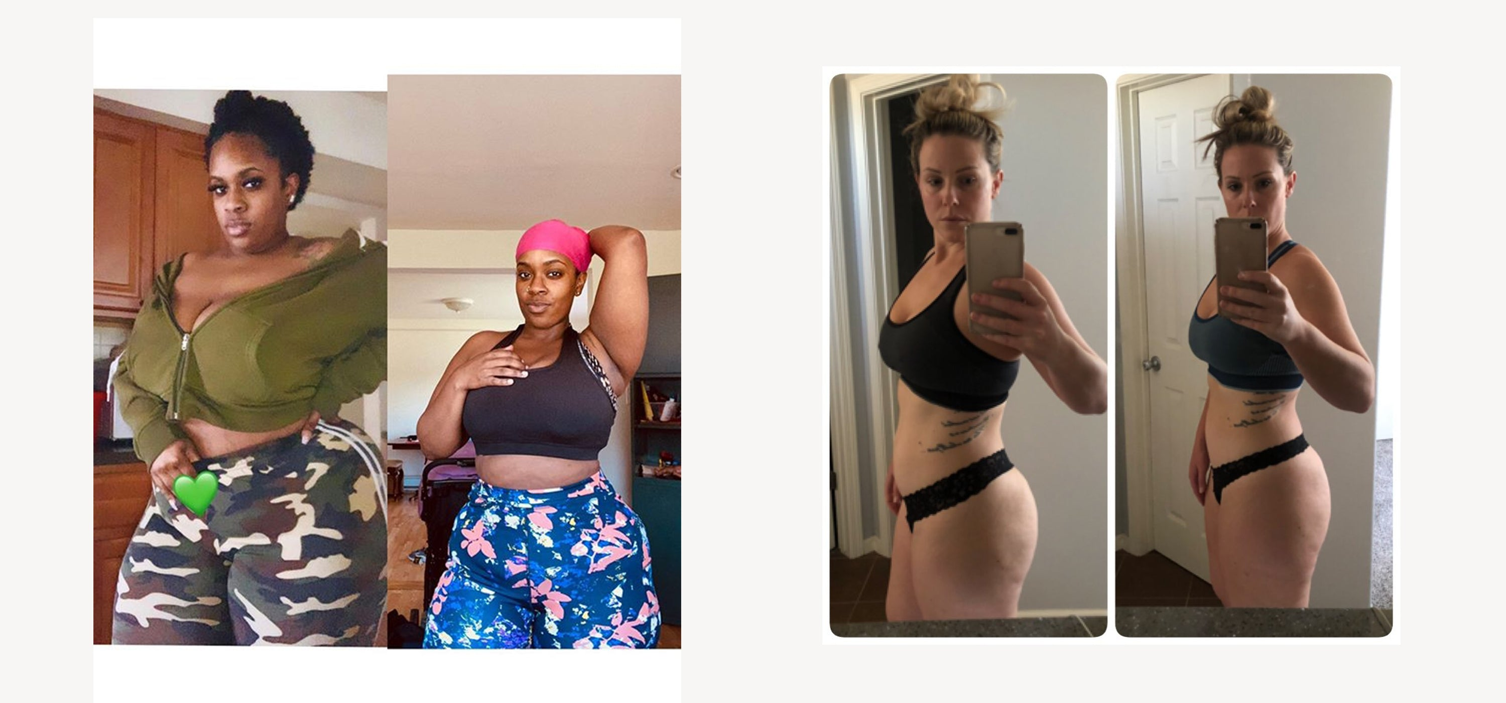 Shapellx waist and thigh trainer before and after
