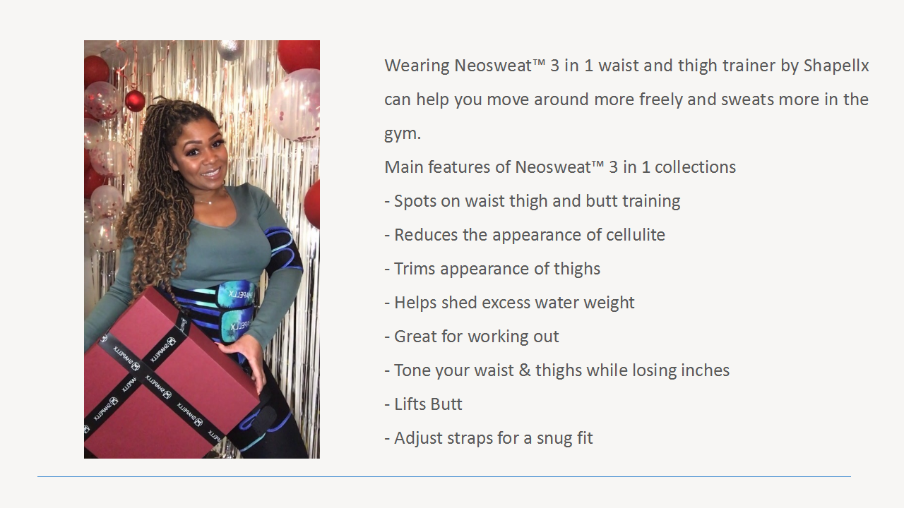 3 in 1 waist and thigh trainer for women