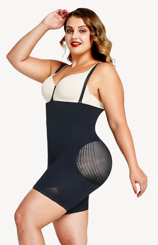 plus size shapewear bodysuits with butt lifter