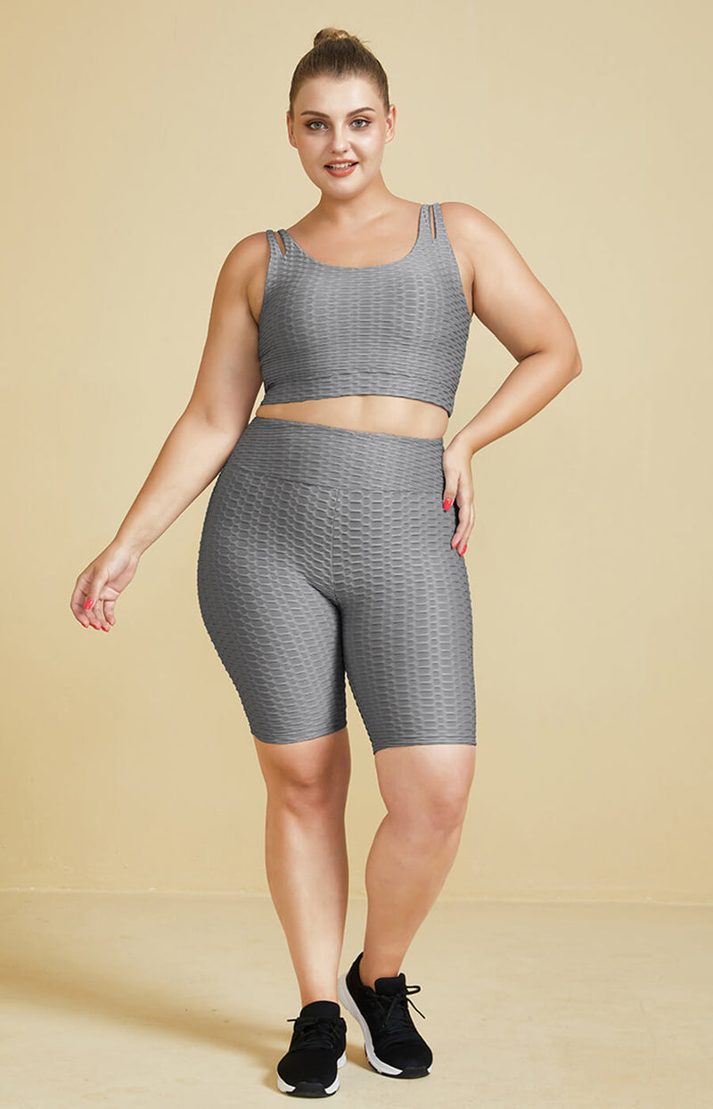 NeoSweat® Workout Fitness Shorts Crop Tops Suit