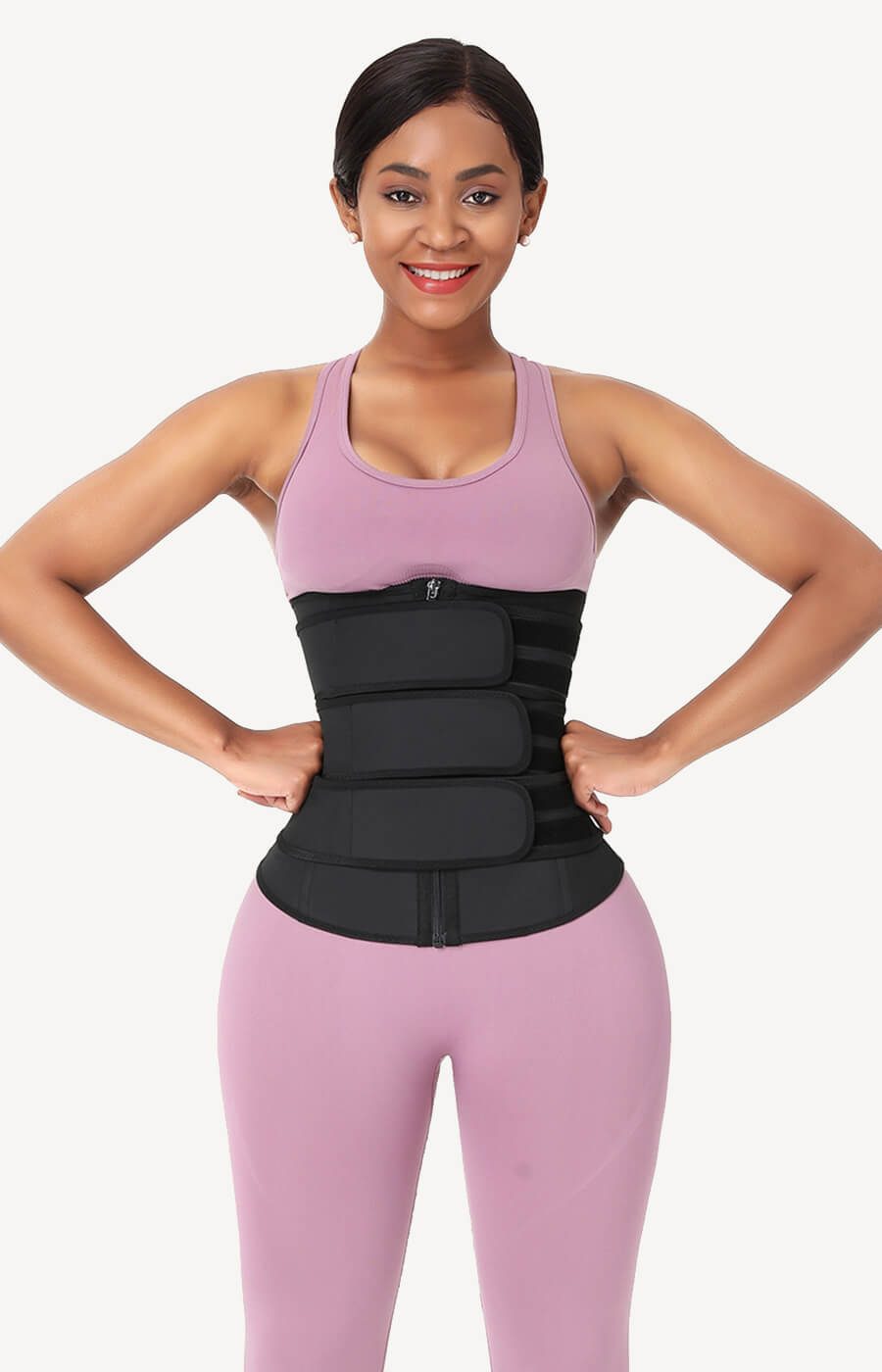 triple belts waist trainer for women