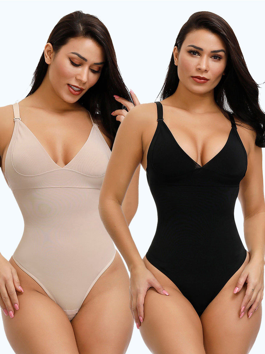 PRESALE-2-Pack Adjustable Straps Tummy Control Shapewear - Shapellx