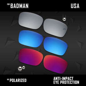 Anti Scratch Polarized Replacement Lenses for-Oakley Badman OO6020 Options