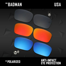 Load image into Gallery viewer, Anti Scratch Polarized Replacement Lenses for-Oakley Badman OO6020 Options