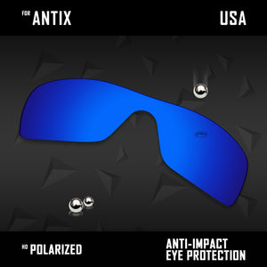 Anti Scratch Polarized Replacement Lenses for-Oakley Antix OO9077 Options