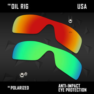 Anti Scratch Polarized Replacement Lenses for-Oakley Oil Rig Options