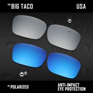 Anti Scratch Polarized Replacement Lenses for-Oakley Big Taco OO9173 Options