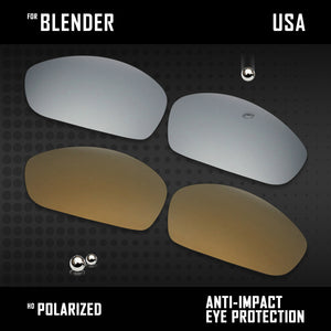 Anti Scratch Polarized Replacement Lenses for-Oakley Blender OO4059 Options