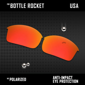 Anti Scratch Polarized Replacement Lenses for-Oakley Bottle Rocket OO9164 Opt