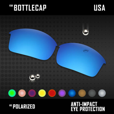 Anti Scratch Polarized Replacement Lenses for-Oakley Bottlecap Options