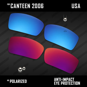 Anti Scratch Polarized Replacement Lenses for-Oakley Canteen 2006 Options