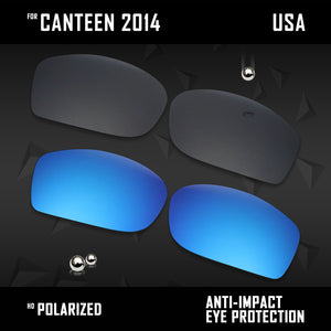 Anti Scratch Polarized Replacement Lenses for-Oakley Canteen 2014 OO9225 Opt