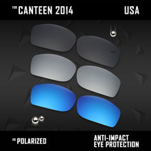 Load image into Gallery viewer, Anti Scratch Polarized Replacement Lenses for-Oakley Canteen 2014 OO9225 Opt