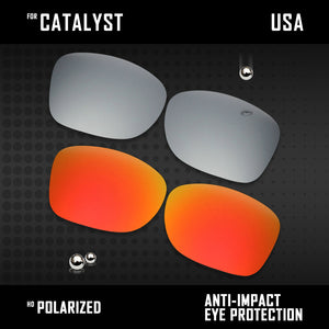 Anti Scratch Polarized Replacement Lenses for-Oakley Catalyst OO9272 Options