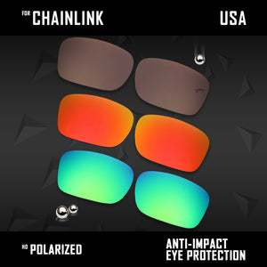 Anti Scratch Polarized Replacement Lenses for-Oakley Chainlink OO9247 Options