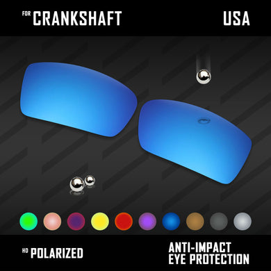 Anti Scratch Polarized Replacement Lenses for-Oakley Crankshaft OO9239 Options