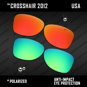 Anti Scratch Polarized Replacement Lenses for-Oakley Crosshair 2012 OO4060 Opt