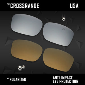 Anti Scratch Polarized Replacement Lenses for-Oakley Crossrange OO9361 Options