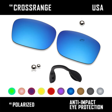Anti Scratch Polarized Replacement Lens & Nose Pads for-Oakley Crossrange OO9361