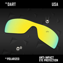 将图片加载到图库查看器,Anti Scratch Polarized Replacement Lenses for-Oakley Dart Options