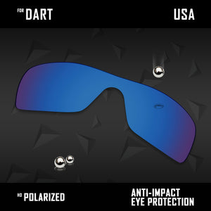 Anti Scratch Polarized Replacement Lenses for-Oakley Dart Options