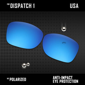 Anti Scratch Polarized Replacement Lenses for-Oakley Dispatch 1 OO9090 Options