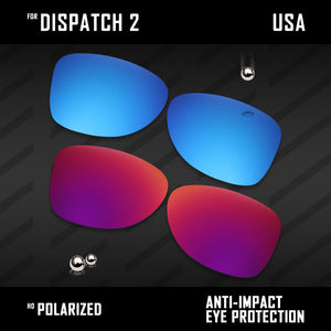 Anti Scratch Polarized Replacement Lenses for-Oakley Dispatch 2 OO9150 Options