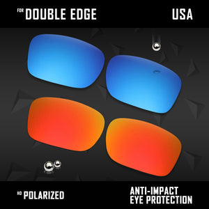 Anti Scratch Polarized Replacement Lenses for-Oakley Double Edge OO9380 Options