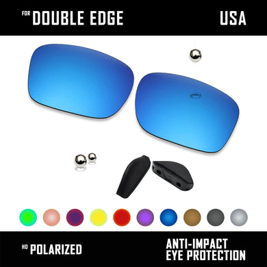 Anti Scratch Polarized Replacement Lens&Nose Pads for-Oakley Double Edge OO9380