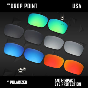 Anti Scratch Polarized Replacement Lenses for-Oakley Drop Point OO9380 Options