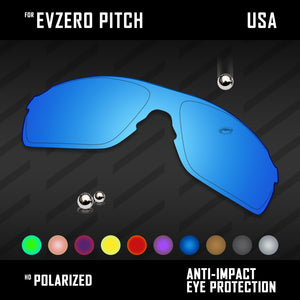 Anti Scratch Polarized Replacement Lenses for-Oakley EVZero Pitch OO9383 Options