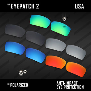 Anti Scratch Polarized Replacement Lenses for-Oakley Eyepatch 2 OO9136 Options